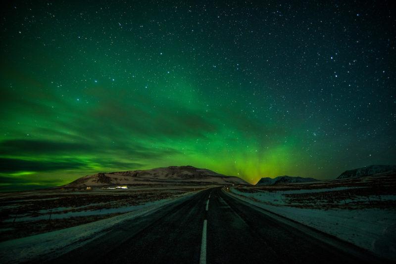 Iceland winter Northern Lights