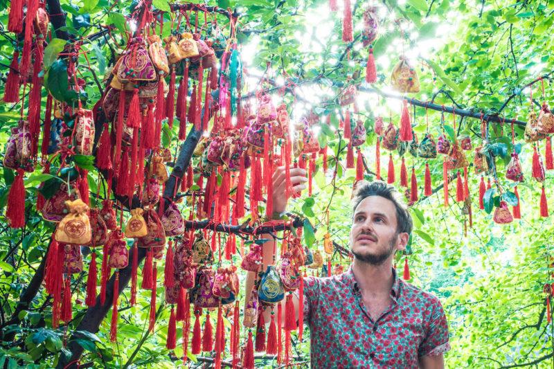 Chengdu China wishing bags