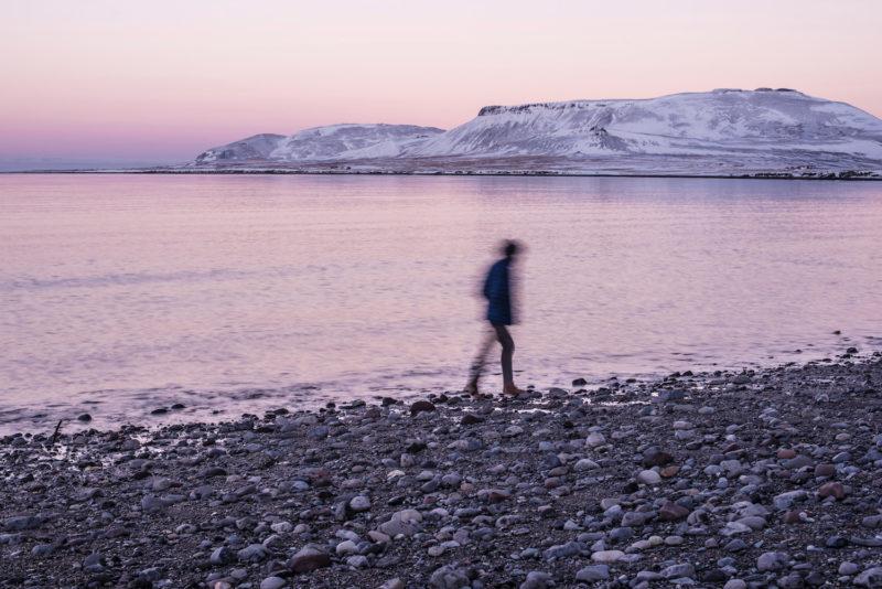 Iceland winter beach