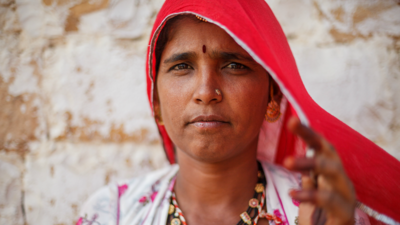 A local lady in the Thar Desert, Rajasthan