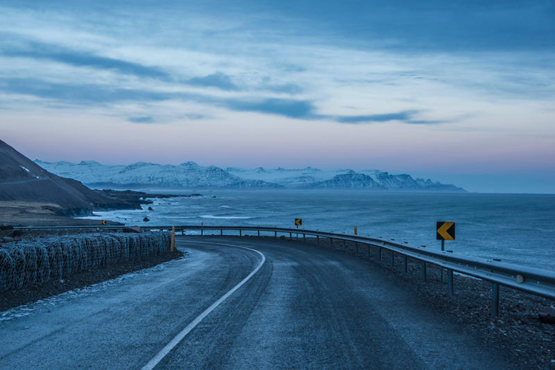 Iceland winter road
