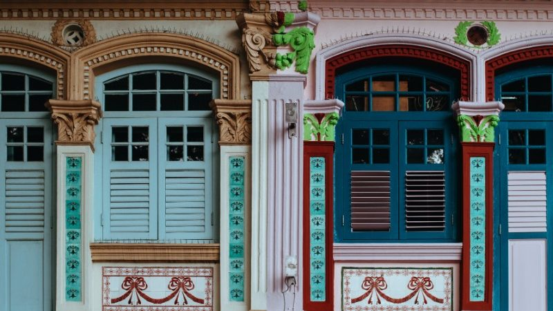 Colourful architecture in Singapore