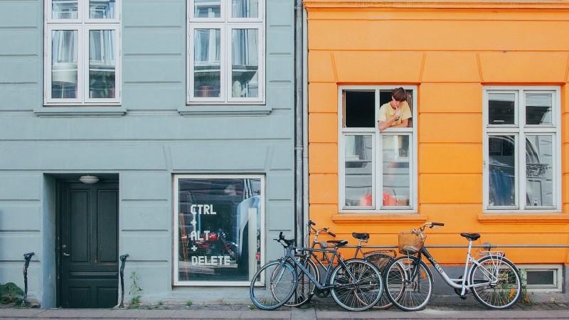 Painted Danish houses