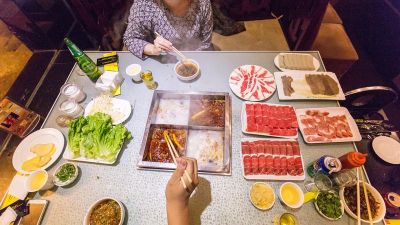 Chengdu food hot pot