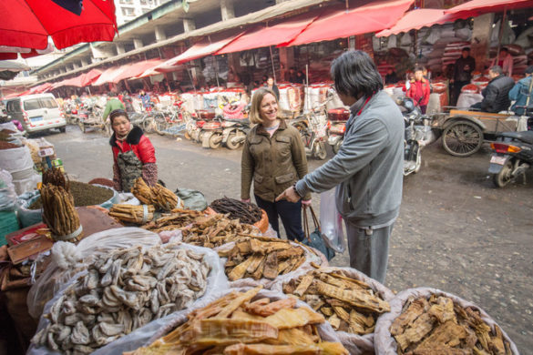 Chengdu market China