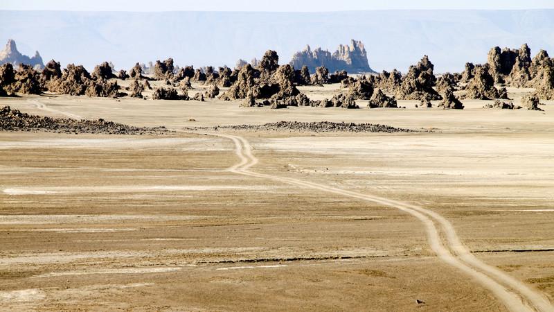 Lac Abbe Road, Djibouti