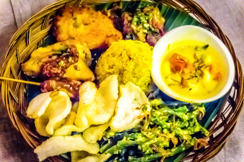 Nasi Campur Indonesia food Sumatra