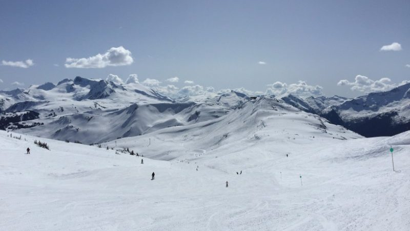 Skiers on Whistler, Canada