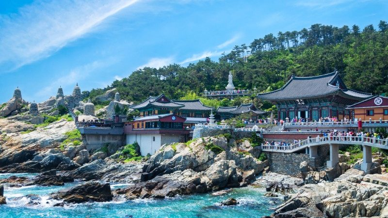 South Korea's Busan coastal temple