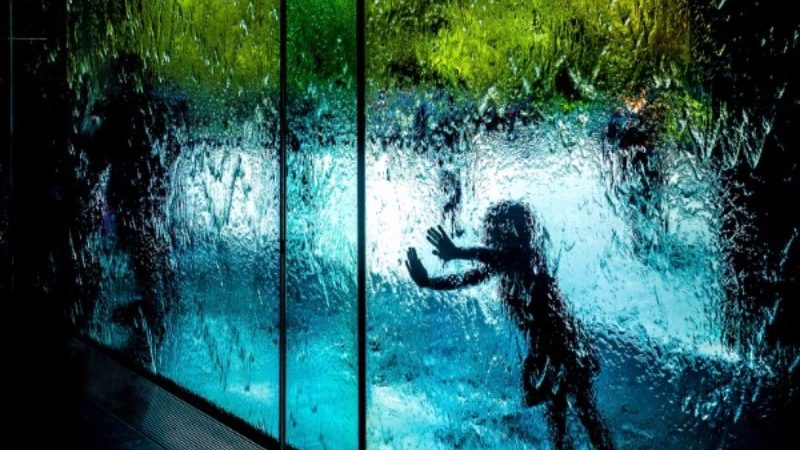 The water wall at the NGV.