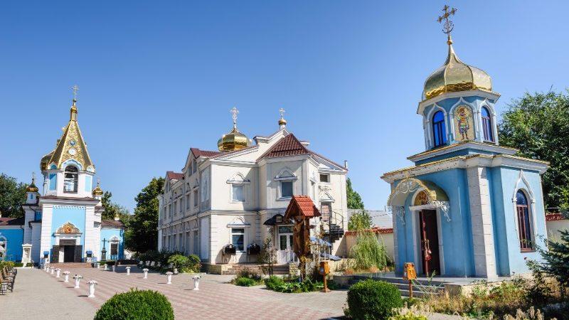 Ciuflea Monastery in Moldova.