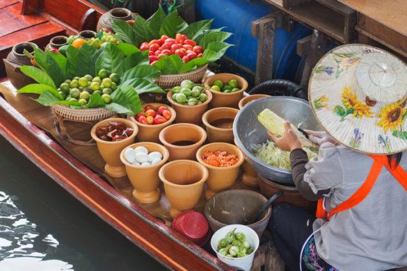 Best food Thailand Bangkok floating markets