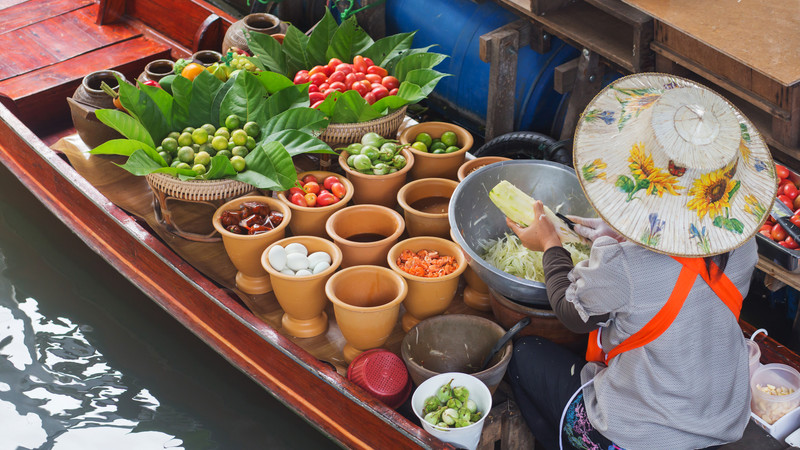 Best food Thailand Bangkok floating markets