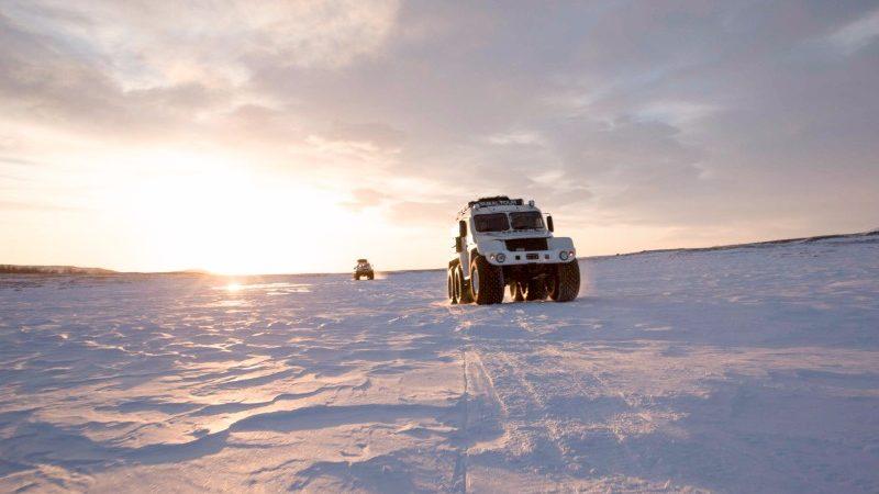 A Trekol on the snow