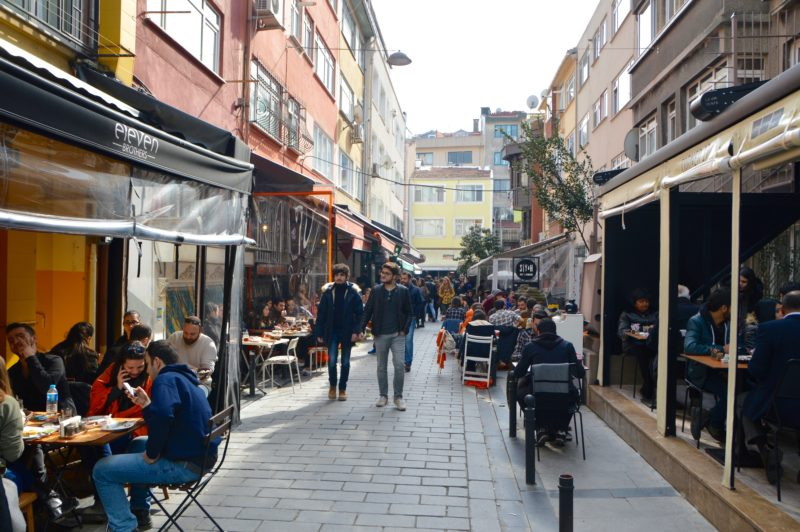 Breakfast street Istanbul food in Turkey