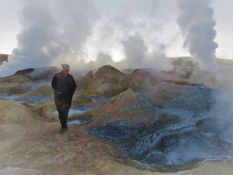 Bolivia tour geyser
