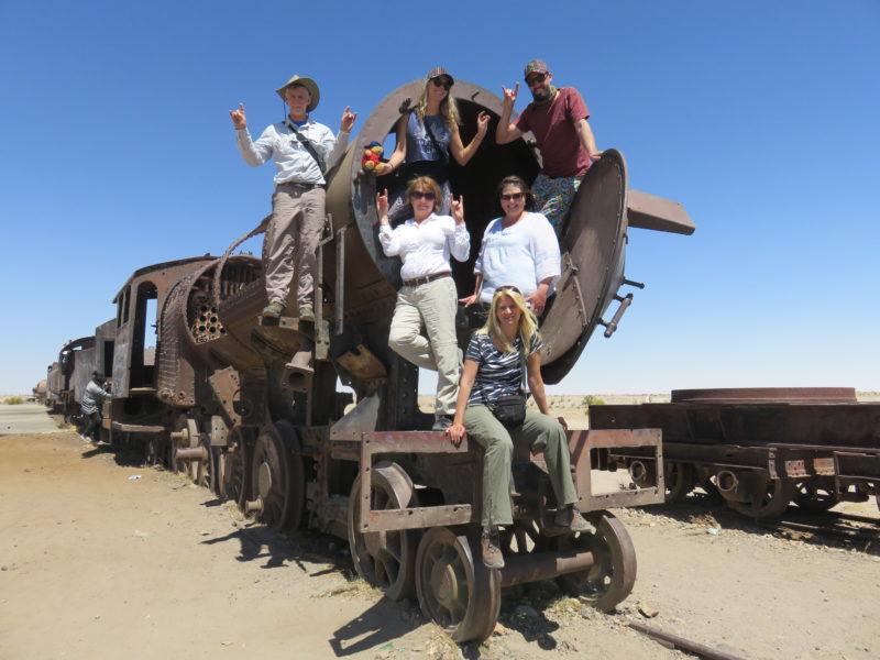 Bolivia tour train graveyard