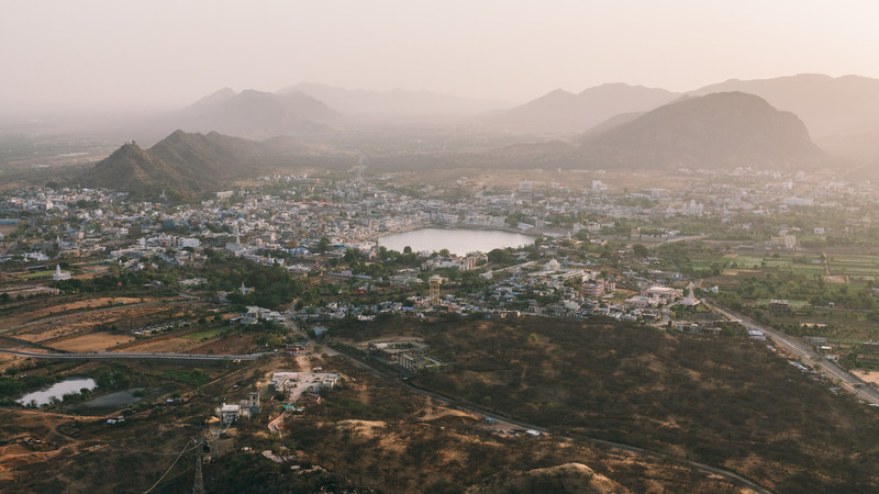 Solo travel India Pushkar mountains