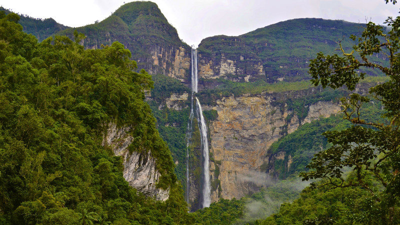 Gocta Falls in the Amazonian Andes