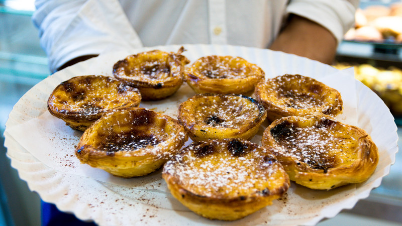 Europe on a budget custard tarts