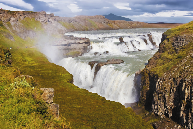 Iceland solo travel to Golden falls