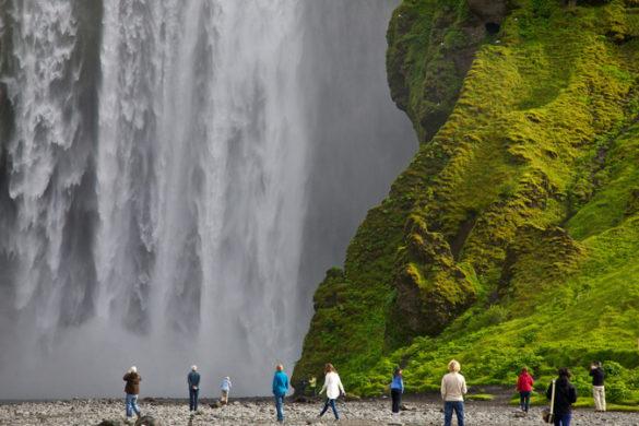 Skogafoss waterfall Iceland on a budget