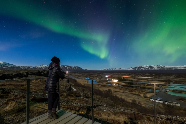 Iceland solo travel Northern lights