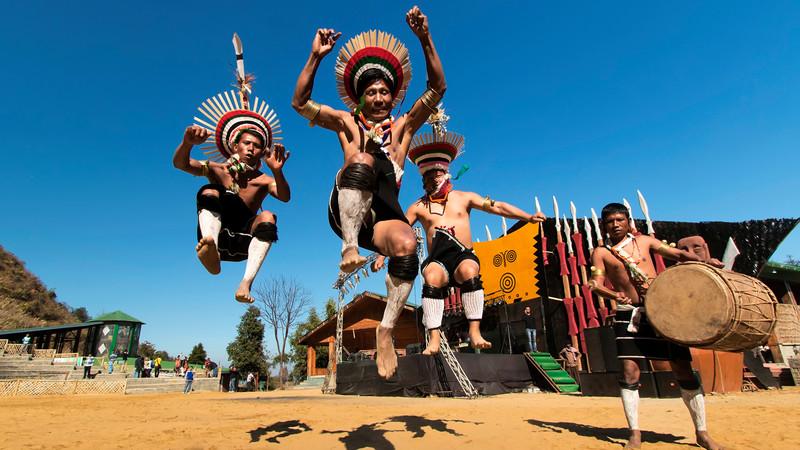 Nagaland tribesmen in Kohima