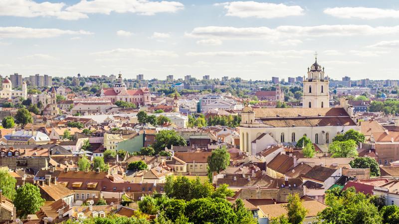 Vilnius travel skyline