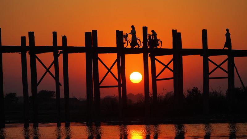 Mandalay Myanmar sunset