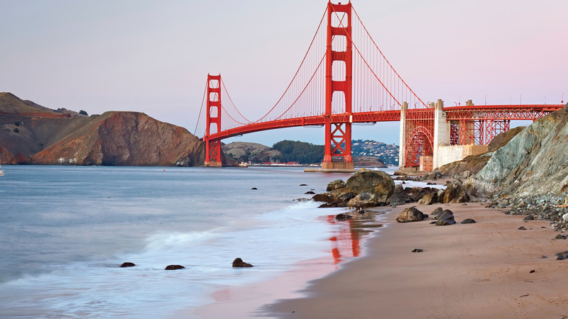Views of the Golden Gate Bridge from Baker Beach
