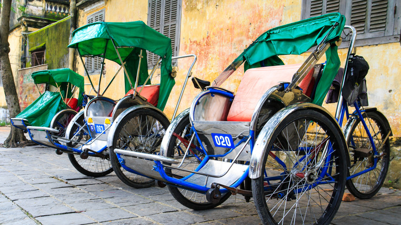 Rickshaws in Vietnam