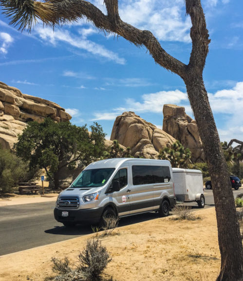 The Intrepid van in a US national park