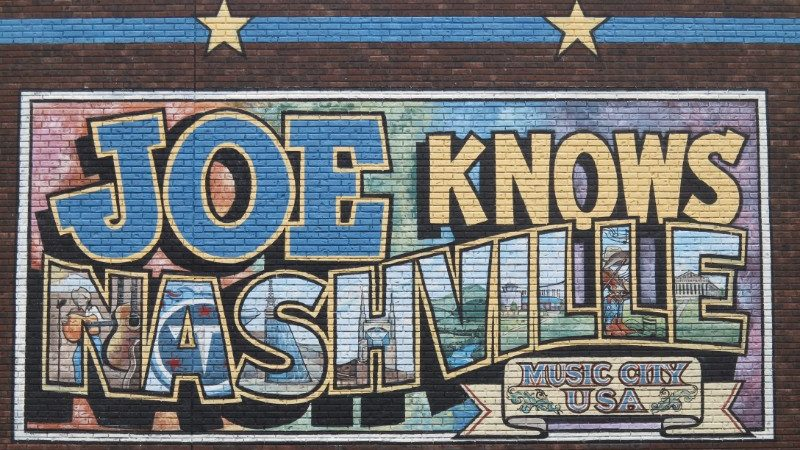 Painted mural in Nashville