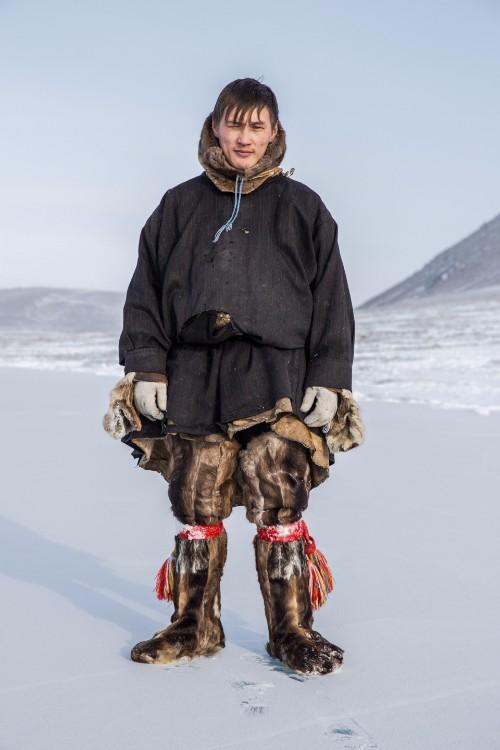 A Nenet man in traditional dress