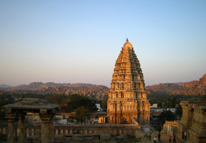 Solo travel India Hampi temple