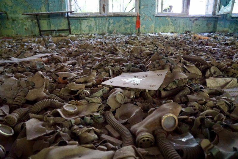 Chernobyl tour gas masks