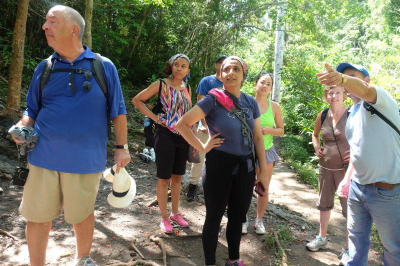 Cuba tour group hiking
