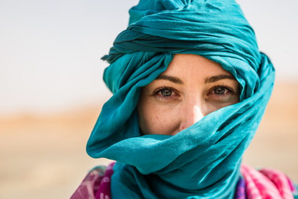 Teenage girl in the Sahara