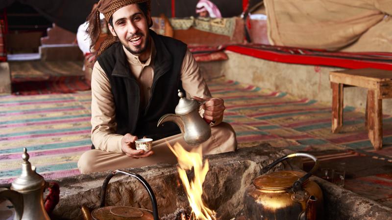 Jordan bike tour Bedouin man