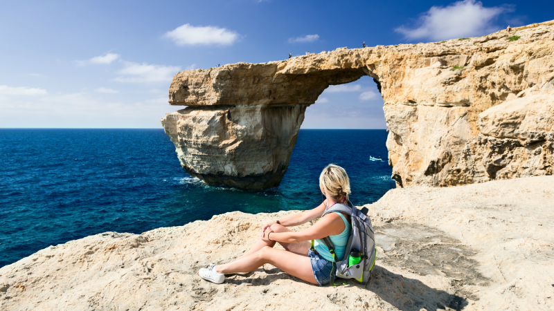 Admiring the view in Gozo