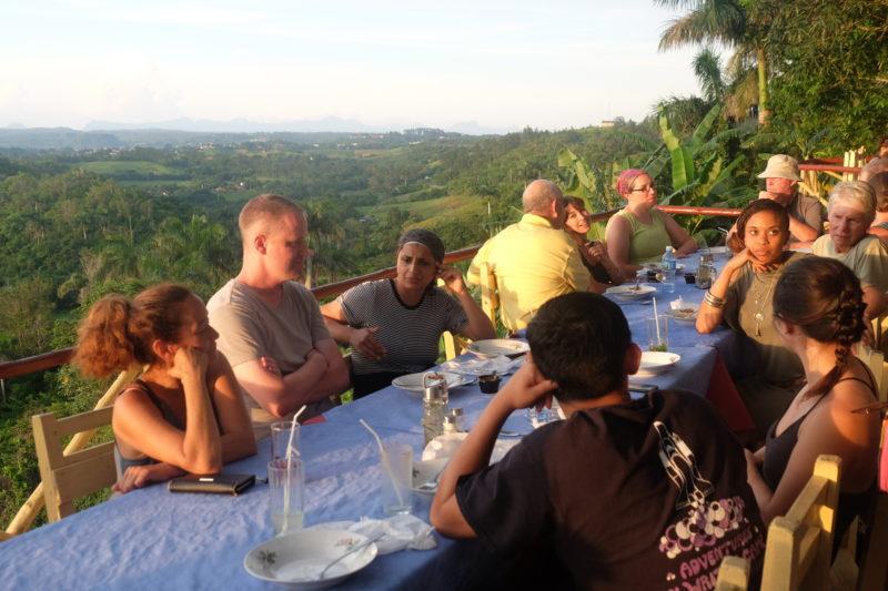 Vinales Cuba dinner