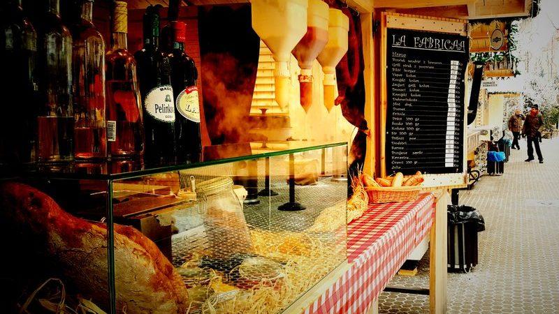 A market stall in Zagreb, Croatia