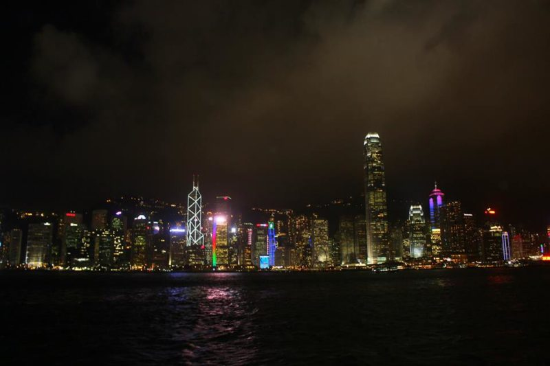 Tsim Sha Tsui skyline night Hong Kong