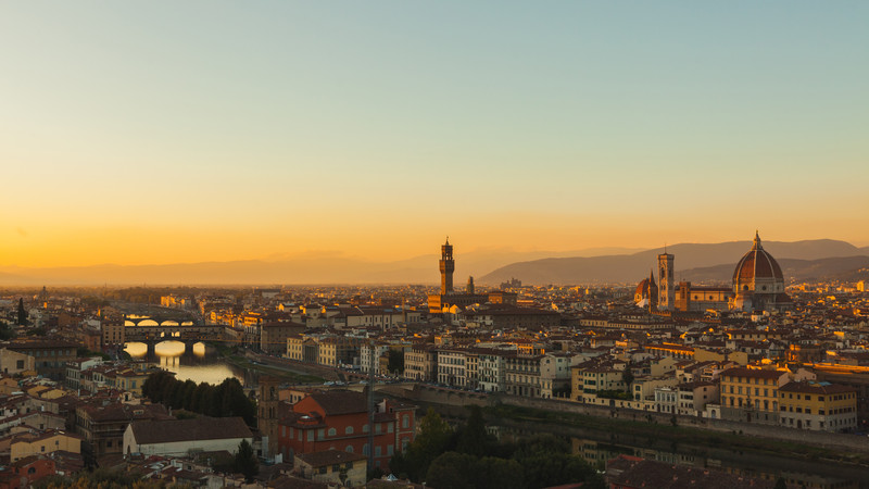 Best food in Italy Florence sunset