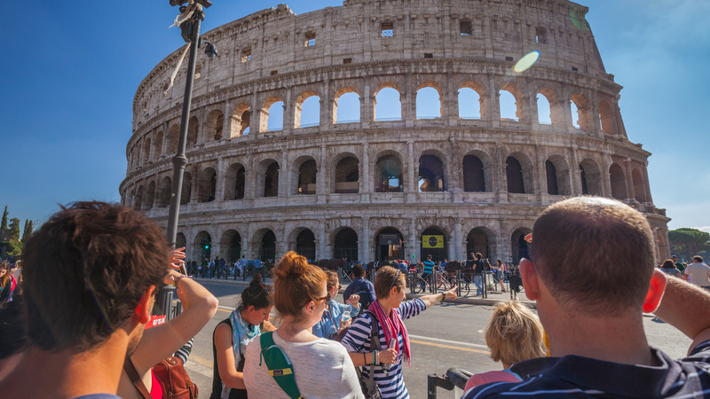 Best food in Italy Rome Colosseum