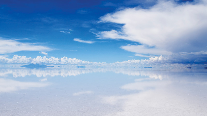 Beautiful reflections in Bolivia