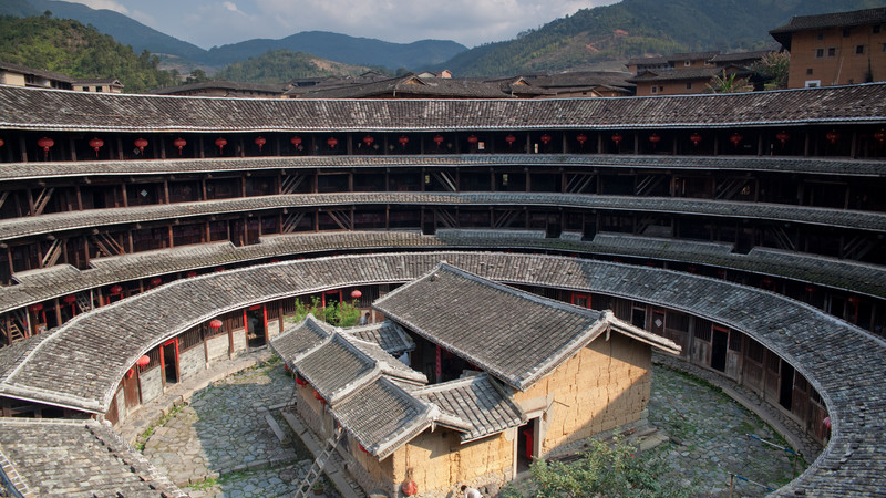 Circular tulou housing in China