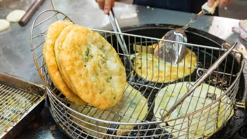 Taiwanese spring onion pancake