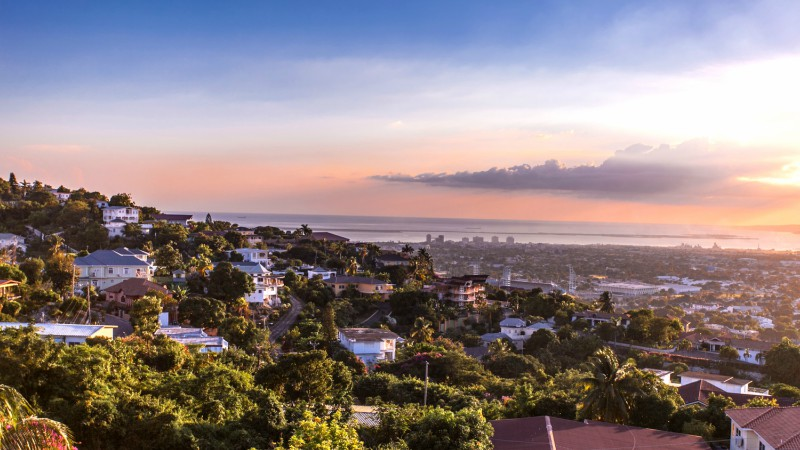 Sunset views over Kingston, Jamaica
